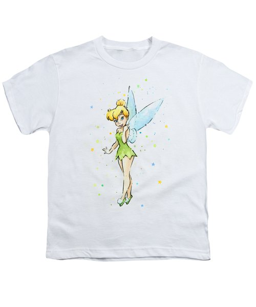 Tinker Bell Youth T-Shirt by Olga Shvartsur