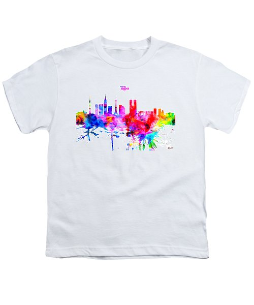 Tokyo Colorful Skyline Youth T-Shirt