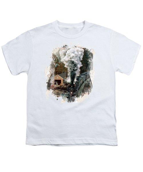 Train Days Youth T-Shirt by Florentina Maria Popescu