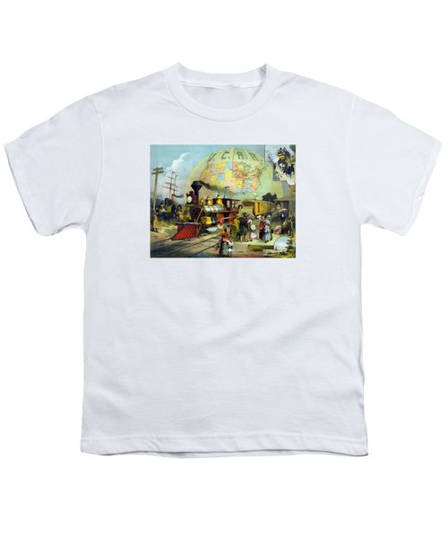 Transcontinental Railroad Youth T-Shirt by War Is Hell Store