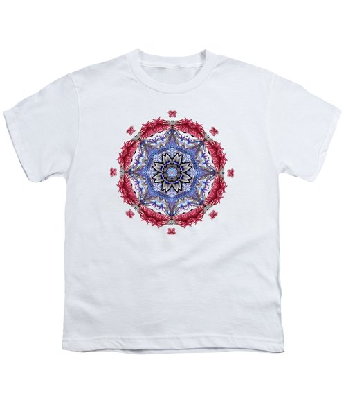 Tropical Mandala By Kaye Menner Youth T-Shirt