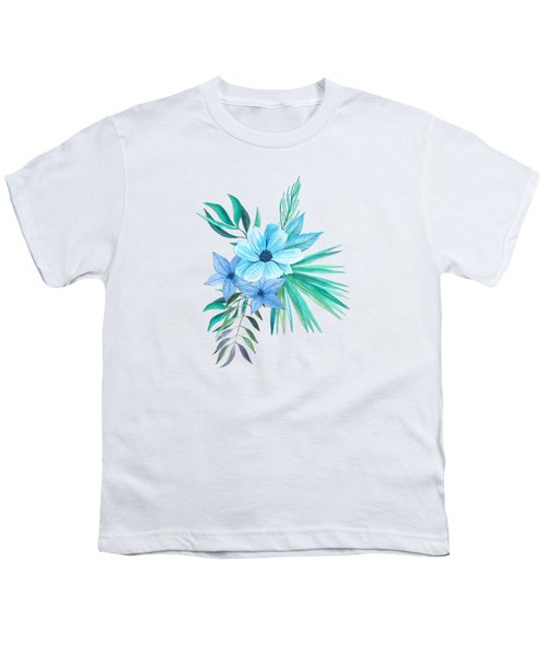 Tropical Watercolor Bouquet 10 Youth T-Shirt