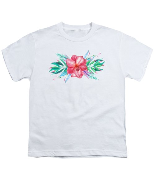 Tropical Watercolor Bouquet 5 Youth T-Shirt