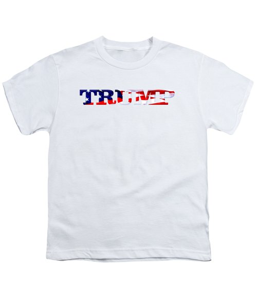 Trump - Fort Mchenry Flag Overlay Youth T-Shirt by William Bartholomew