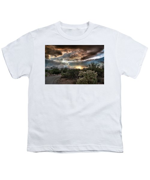 Tucson Mountain Sunset Youth T-Shirt
