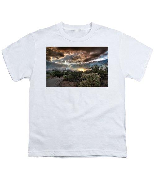 Tucson Mountain Sunset Youth T-Shirt