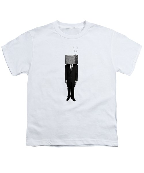 Tv Head Youth T-Shirt by Diane Diederich