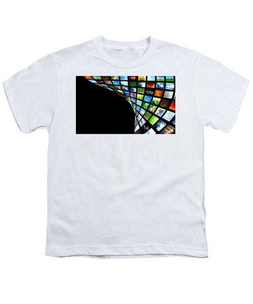 Tv Warp Wall Youth T-Shirt