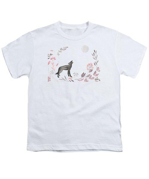 Twilight Wolf Youth T-Shirt by Amanda Lakey