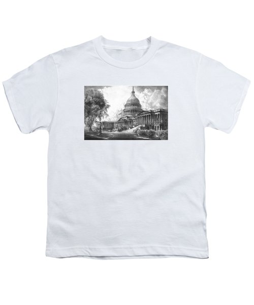 United States Capitol Building Youth T-Shirt by War Is Hell Store
