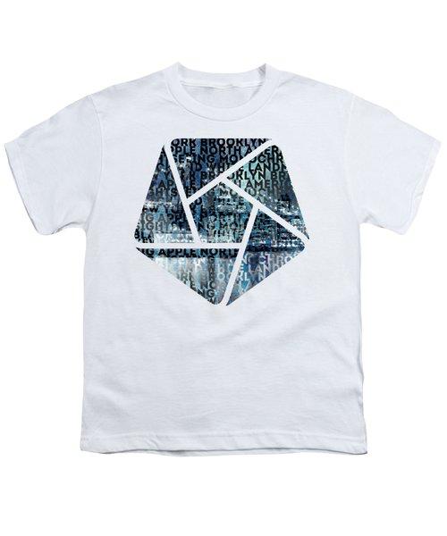Urban-art Nyc Brooklyn Bridge I Youth T-Shirt by Melanie Viola