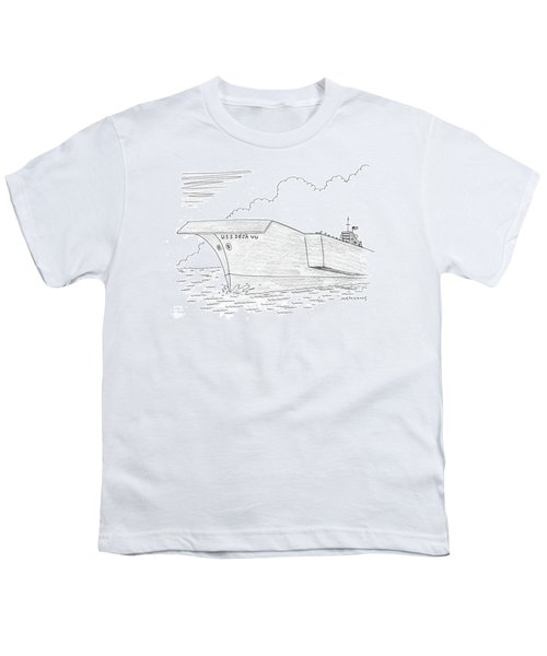 U.s.s. Deja Vu Youth T-Shirt by Mick Stevens