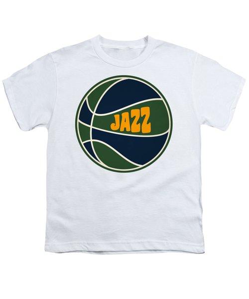 Utah Jazz Retro Shirt Youth T-Shirt by Joe Hamilton