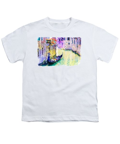 Venice Canal Youth T-Shirt by Marian Voicu