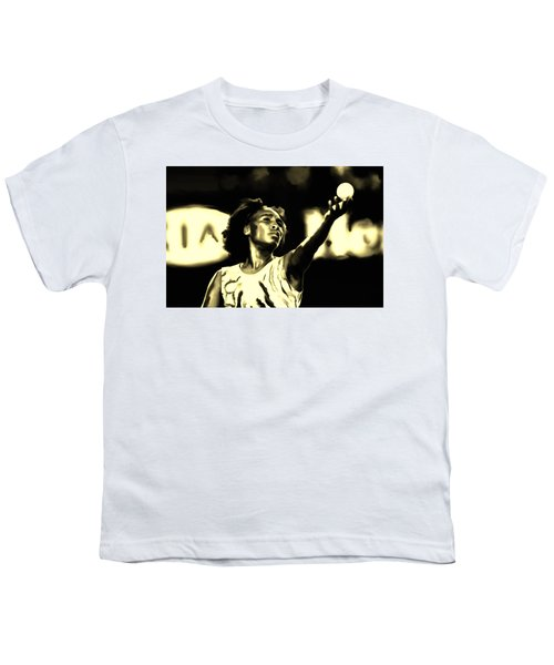 Venus Williams Match Point Youth T-Shirt by Brian Reaves