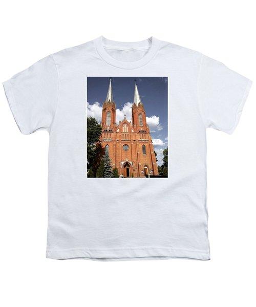 Very Old Church In Odrzywol, Poland Youth T-Shirt by Arletta Cwalina
