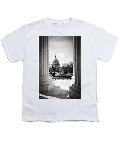 View Of Capitol Hill Through The Supreme Court Youth T-Shirt