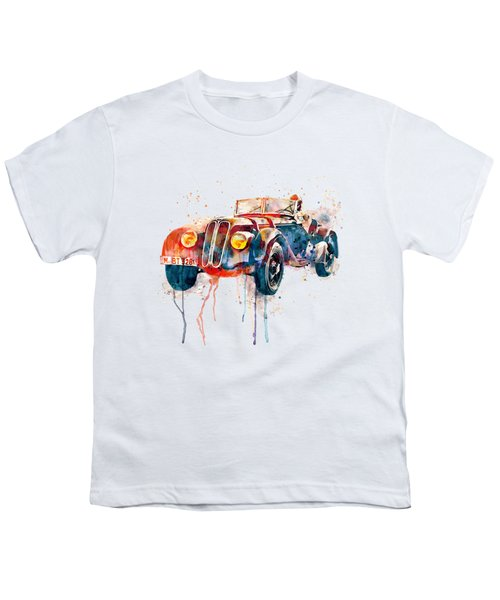 Vintage Bmw Watercolor Youth T-Shirt by Marian Voicu