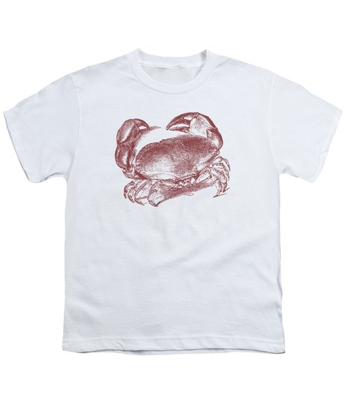 Vintage Crab Tee Youth T-Shirt by Edward Fielding
