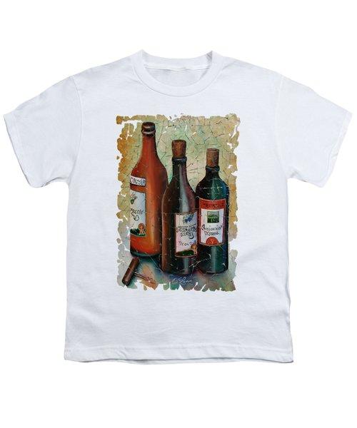 Vintage Georgian Wine Fresco Youth T-Shirt by Lena  Owens OLena Art