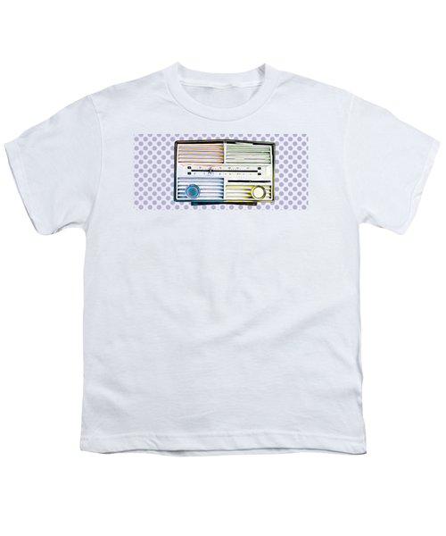 Vintage Radio Purple Dots Mug Youth T-Shirt by Edward Fielding