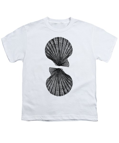 Vintage Scallop Shells Youth T-Shirt by Edward Fielding