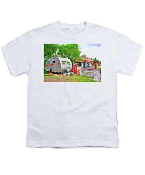 Vintage Trailer And Diner In Bisbee Arizona Youth T-Shirt