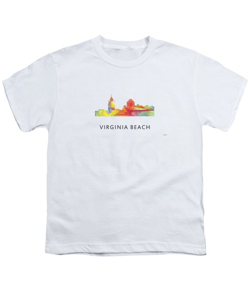 Virginia Beach  Virginia Skyline Youth T-Shirt by Marlene Watson