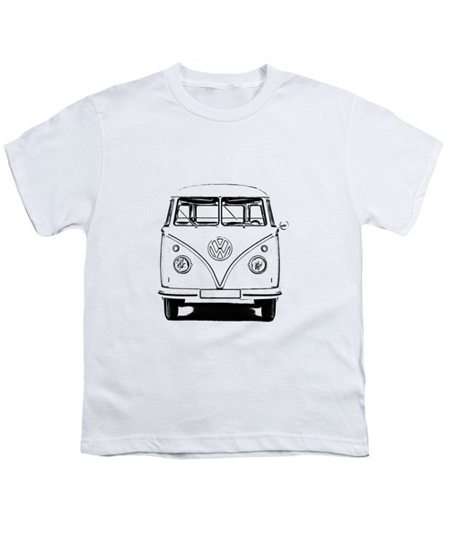 Vw Bus T-shirt Youth T-Shirt by Edward Fielding