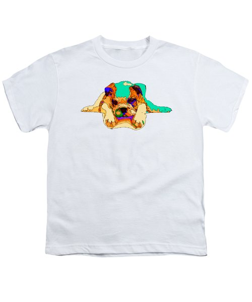 Waiting For You. Dog Series Youth T-Shirt