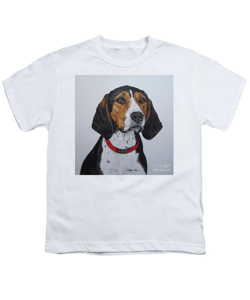Walker Coonhound - Cooper Youth T-Shirt by Megan Cohen