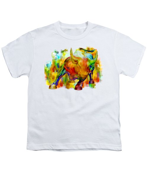 Wall Street Bull Youth T-Shirt by Jack Zulli