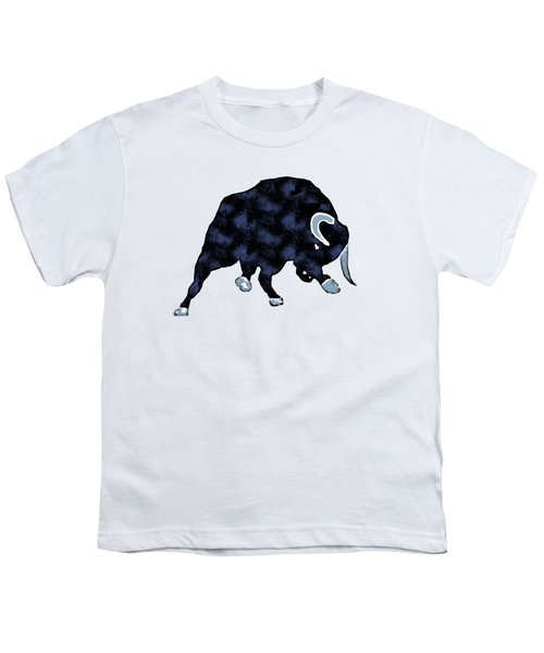 Wall Street Bull Market Series 1 T-shirt Youth T-Shirt by Edward Fielding