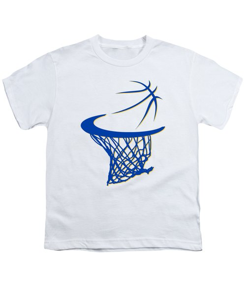 Warriors Basketball Hoop Youth T-Shirt