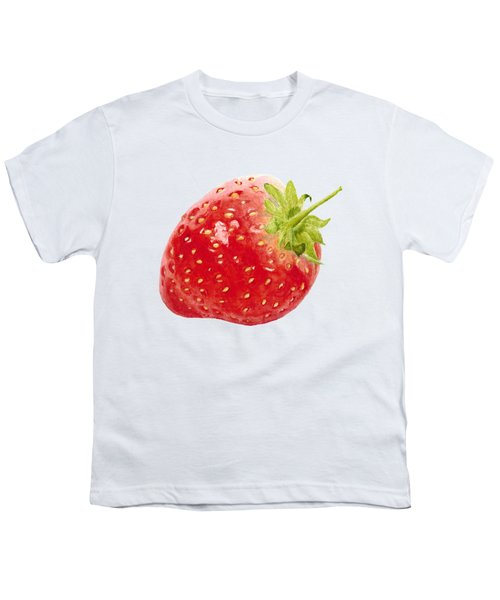 Watercolor Strawberry Youth T-Shirt by Kathleen Skinner