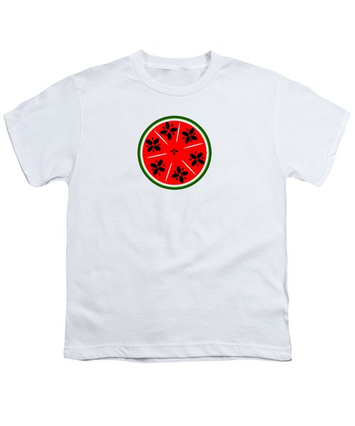 Watermelon Summer Youth T-Shirt by Chastity Hoff