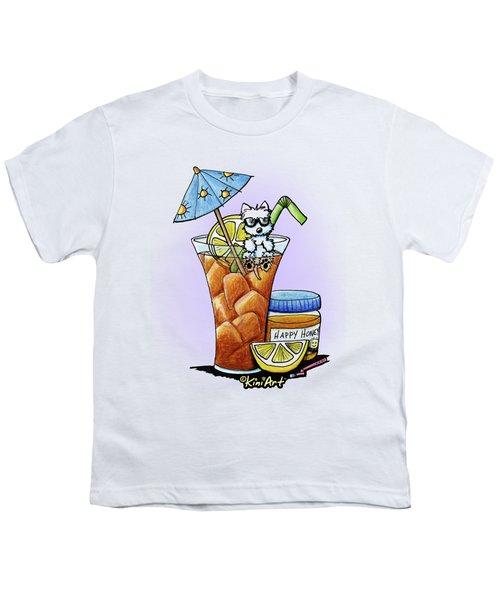 West Highland Iced Tea Youth T-Shirt by Kim Niles