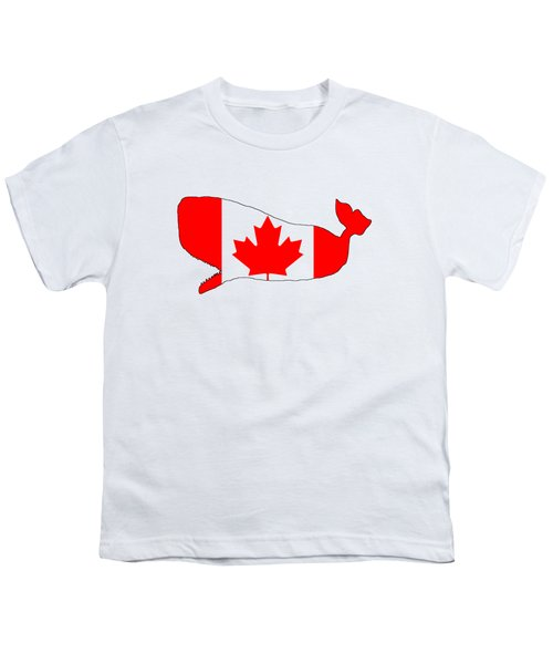 Whale Canada Youth T-Shirt by Mordax Furittus