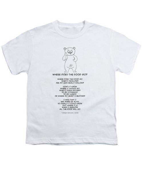 Where Does The Food Go Youth T-Shirt