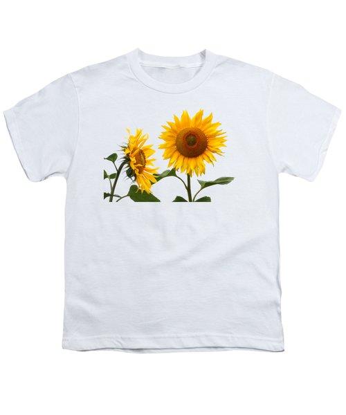 Whispering Secrets Sunflowers On White Youth T-Shirt