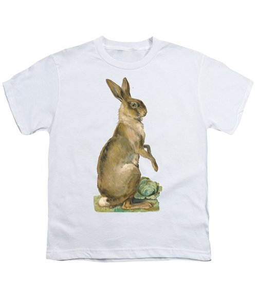 Youth T-Shirt featuring the digital art Wild Hare by ReInVintaged