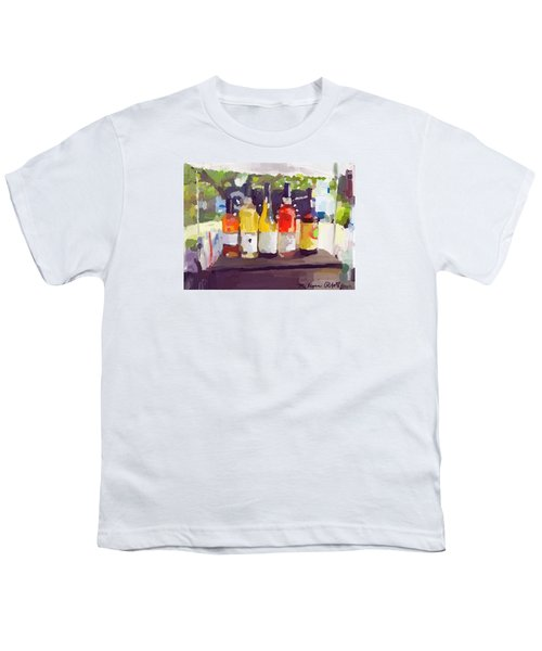 Wine Tasting Tent At Rockport Farmers Market Youth T-Shirt by Melissa Abbott