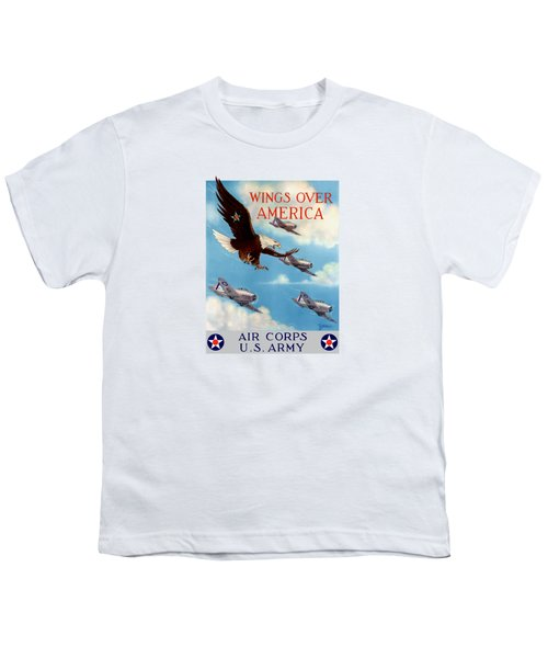 Wings Over America - Air Corps U.s. Army Youth T-Shirt by War Is Hell Store