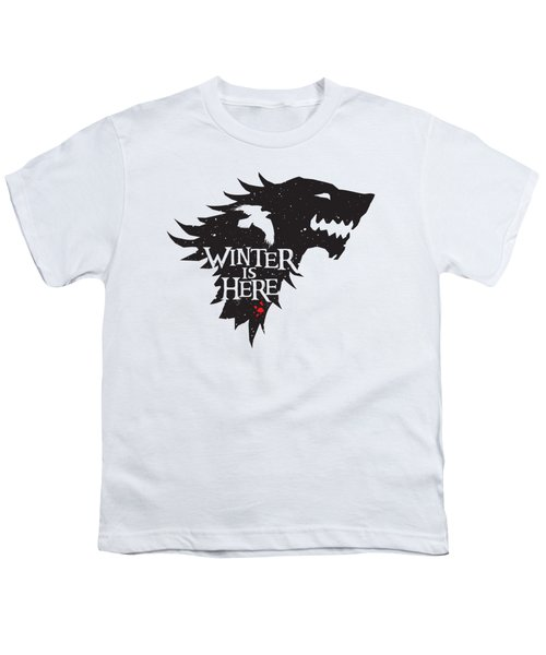 Winter Is Here Youth T-Shirt by Edward Draganski