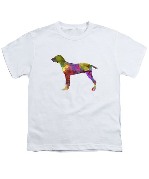 Wirehaired Slovakian Pointer In Watercolor Youth T-Shirt by Pablo Romero