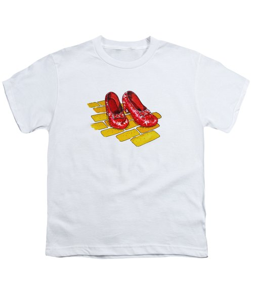 Wizard Of Oz Ruby Slippers Youth T-Shirt