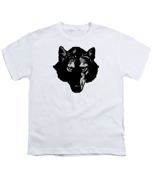Wolf Tee Youth T-Shirt by Edward Fielding