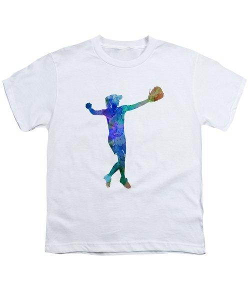 Woman Playing Softball 02 Youth T-Shirt