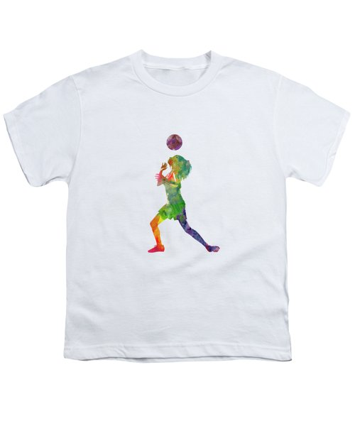 Woman Soccer Player 06 In Watercolor Youth T-Shirt