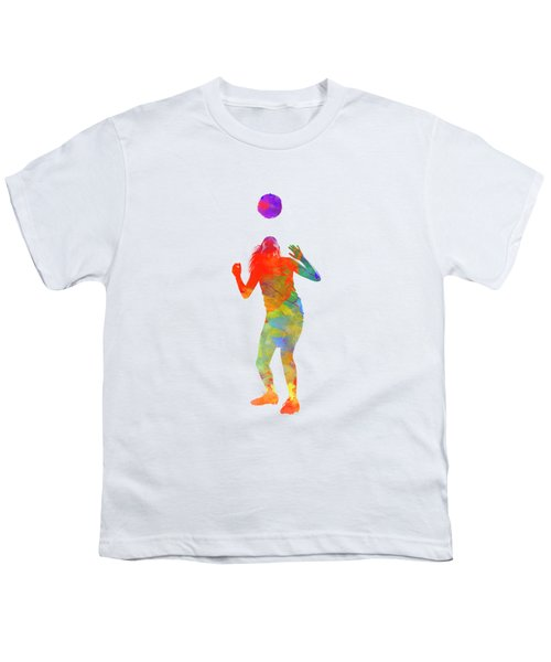Woman Soccer Player 13 In Watercolor Youth T-Shirt